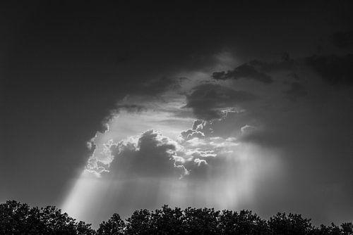 In de wolken