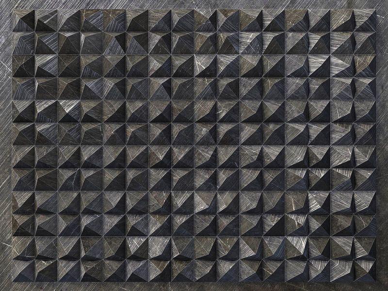 Reliëf 2016 C3 Zwarte kunststof van Frans Blok