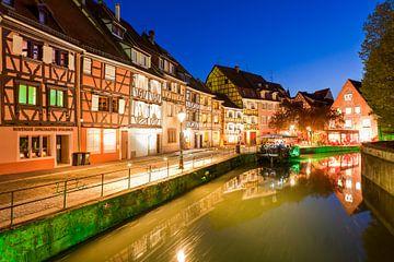 Colmar en Alsace la nuit sur Werner Dieterich