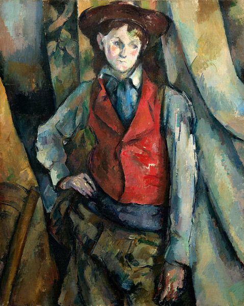 Jongen in een Rood Vest, Paul Cézanne van Liszt Collection