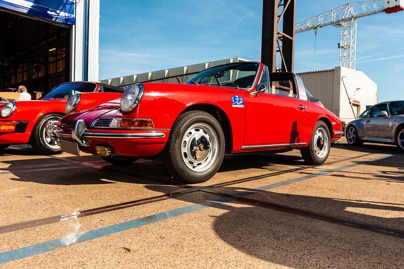 Rode Porsche van Brian Morgan