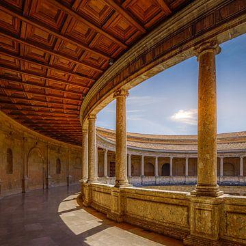 Alhambra de Granada, Patio van het Paleis van Karel V. van Hennnie Keeris