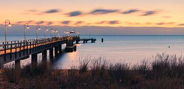 Sonnenaufgang in Göhren auf der Insel Rügen, Deutschland von Henk Meijer Photography