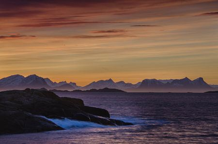 Sunrise in Svolvaer, on the Lofoten islands