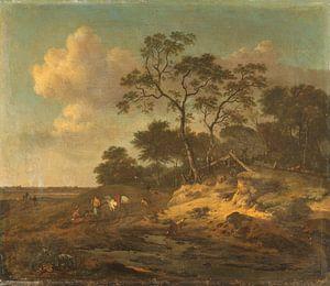 Dune Landscape with Hunters Resting, Jan Wijnants