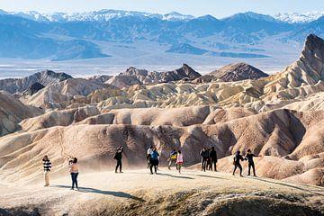 Death Valley, Zabriskie Point van Keesnan Dogger Fotografie