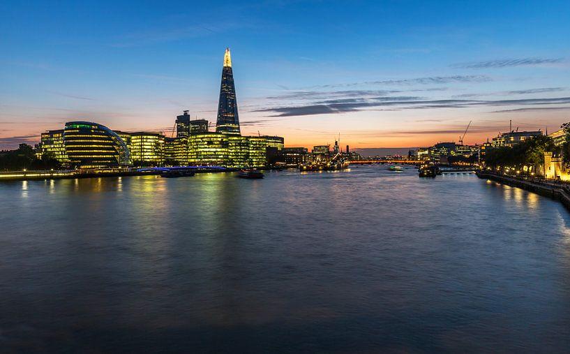 City of London Skyline op de Theems van Frank Herrmann
