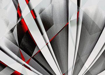 Abstractum in Rot Grau von Max Steinwald