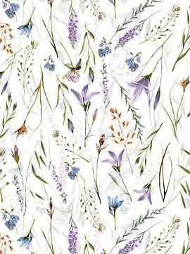 Skandinavische Mittsommer Glockenblumen Wiese von Uta Naumann