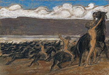 Pferdebändiger, LUDWIG VON HOFMANN, Ca. 1890 von Atelier Liesjes
