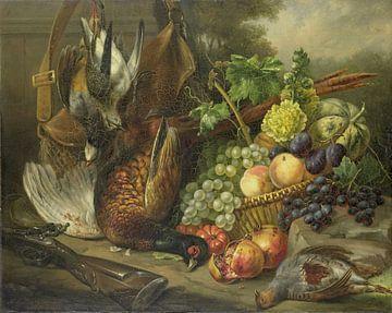 Stillleben mit Früchten und Vögeln, Elisabeth Iosetta Hoopstad