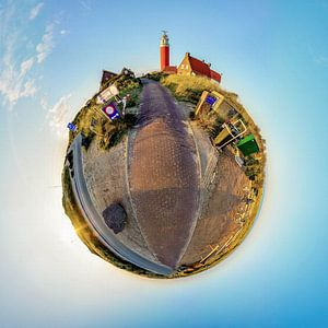 Tiny Planet Vuurtoren Eierland Texel van Texel360Fotografie Richard Heerschap