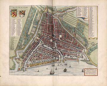Rotterdam, Stadsplattegrond Joan Blaeu 1652 van Atelier Liesjes