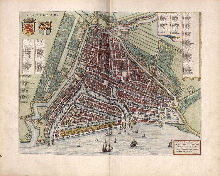 Rotterdam, Stadtplan Joan Blaeu 1652 von Atelier Liesjes