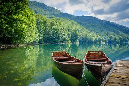 Bootjes op het water, boats on the water. von Hans Brasz