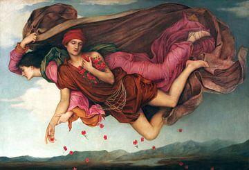 Evelyn De Morgan, Nacht en slaap - 1878 van Atelier Liesjes