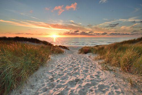 Texel zonsondergang bij paal 22 von John Leeninga