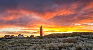 Vuurtoren van Texel tijdens een schitterende zonsondergang / Texel Lighthouse during a stunning suns