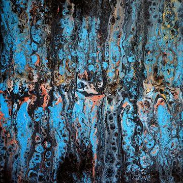 Metallisch Blau von Yvonne Smits