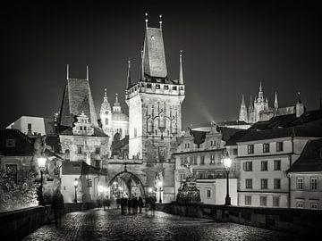Prague at Night van Alexander Voss