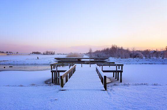 Nederlands winterlandschap