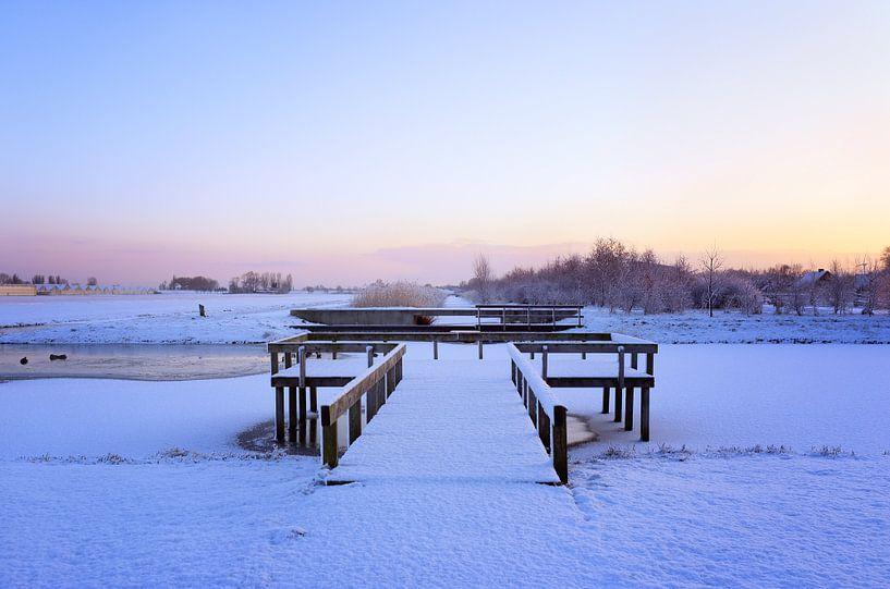 Nederlands winterlandschap van LHJB Photography