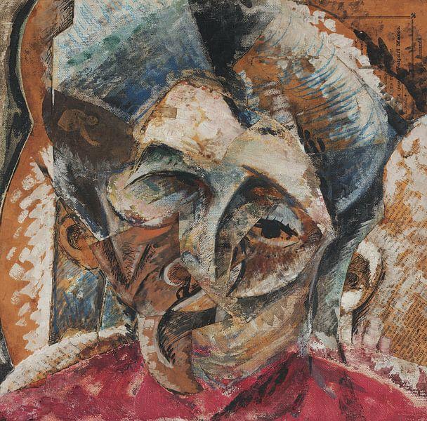 Umberto Boccioni-Dynamik eines Frauenkopfes von finemasterpiece