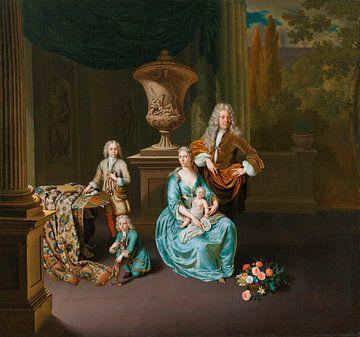 Diederik Baron van Leyden van Vlaardingen und seine Familie, Willem van Mieris