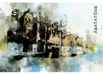 Amsterdam watercolor von