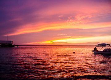 Zonsondergang, Bonaire van Joke Van Eeghem