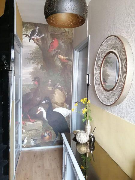 Klantfoto: Een verzameling vogels in een park, Jakob Bodány van Meesterlijcke Meesters, op naadloos behang
