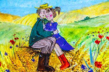 Liebe im Kornfeld (Gemälde) von Art by Jeronimo