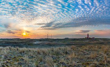 Leuchtturm Sonnenuntergang grand panorama von Texel360Fotografie Richard Heerschap