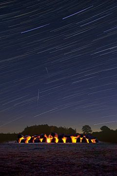 Stries étoile au-dessus Hunebed (vertical) sur