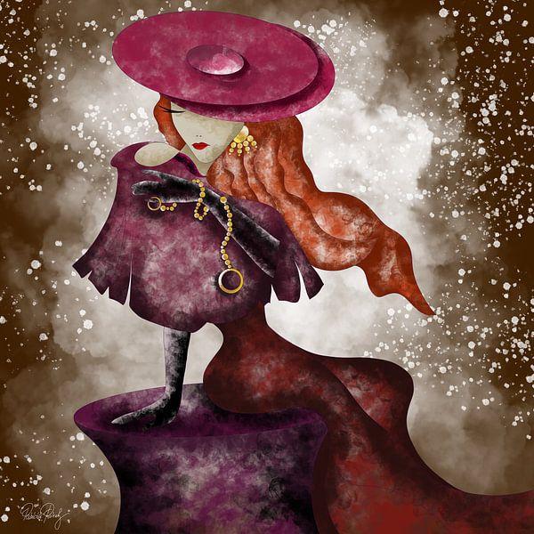 Lady in rot von Patricia Piotrak