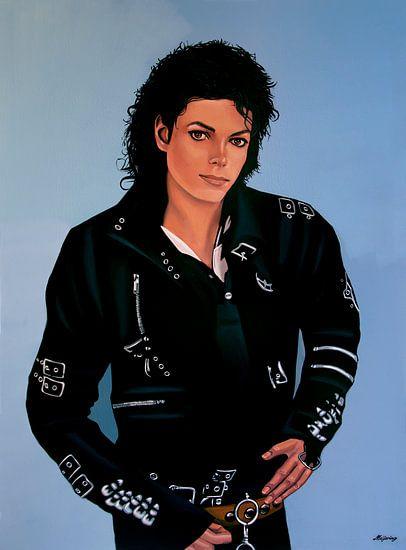 Michael Jackson Bad Schilderij van Paul Meijering
