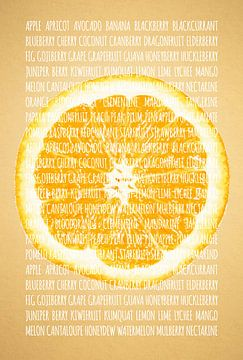 Fruities in kleur Sinaasappel sur Sharon Harthoorn