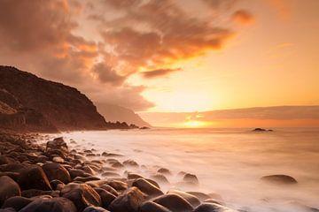 Kust bij zonsondergang, El Hierro, Canarische Eilanden, Spanje van Markus Lange