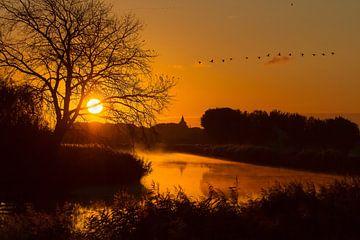 Edam bij zonsopkomst van Marianne Jonkman