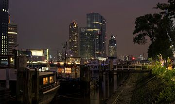 Koningshaven, Rotterdam bij nacht van Vincent van Kooten