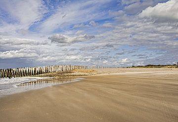 Storm op het strand van Martine Moens