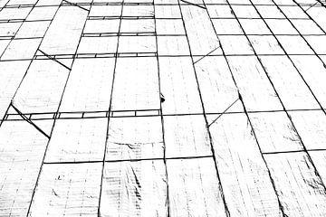 Schwarze und weiße Linien von Wim Stolwerk