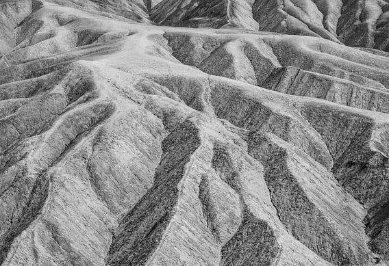 Death Valley: Zabriskie Point in zwart-wit