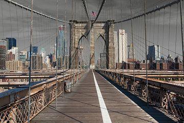 Brooklyn Bridge in New York  van Wout Kok