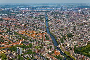 Vue aérienne d'Amsterdam Ouest sur Anton de Zeeuw
