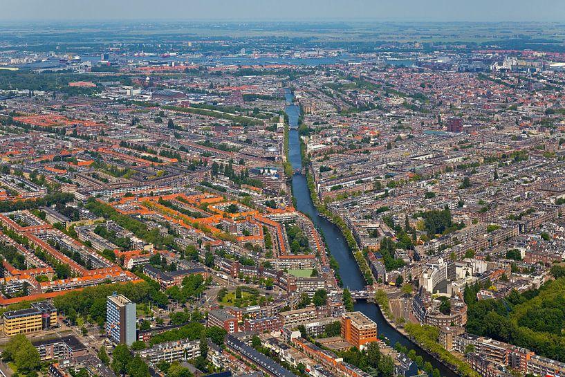 Luchtfoto Amsterdam-West van Anton de Zeeuw