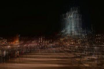 Deventer bij nacht van Wim Beunk