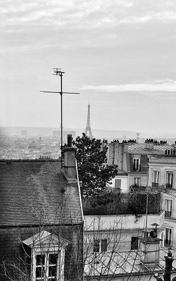 Eifeltoren Parijs in de verte van Cynthia van Diggele