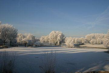 Winters landschap van Erwin Woutersen