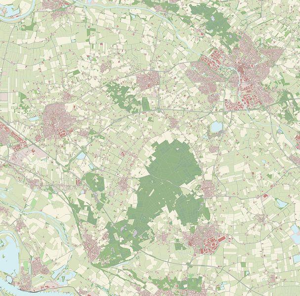 Kaart vanMontferland van Rebel Ontwerp
